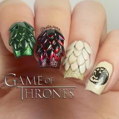 Game Of Thrones Inspired Nails Got Pinterest Daenerys And