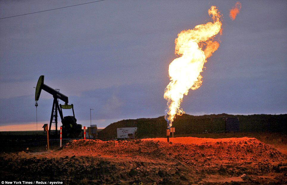 New us oil field burning off enough gas to power chicago
