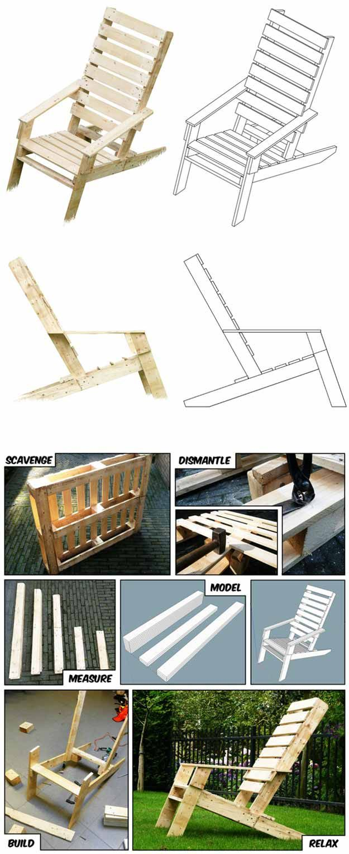 diy outdoor pallet furniture. One-Pallet Chair   DIY Outdoor Pallet Furniture Projects Diy