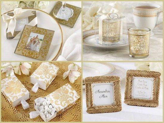 Gold Elegant Wedding Favors From HotRef.com