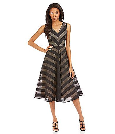 9b9de579b4d Maggy London VNeck Fit and Flare Dress  Dillards