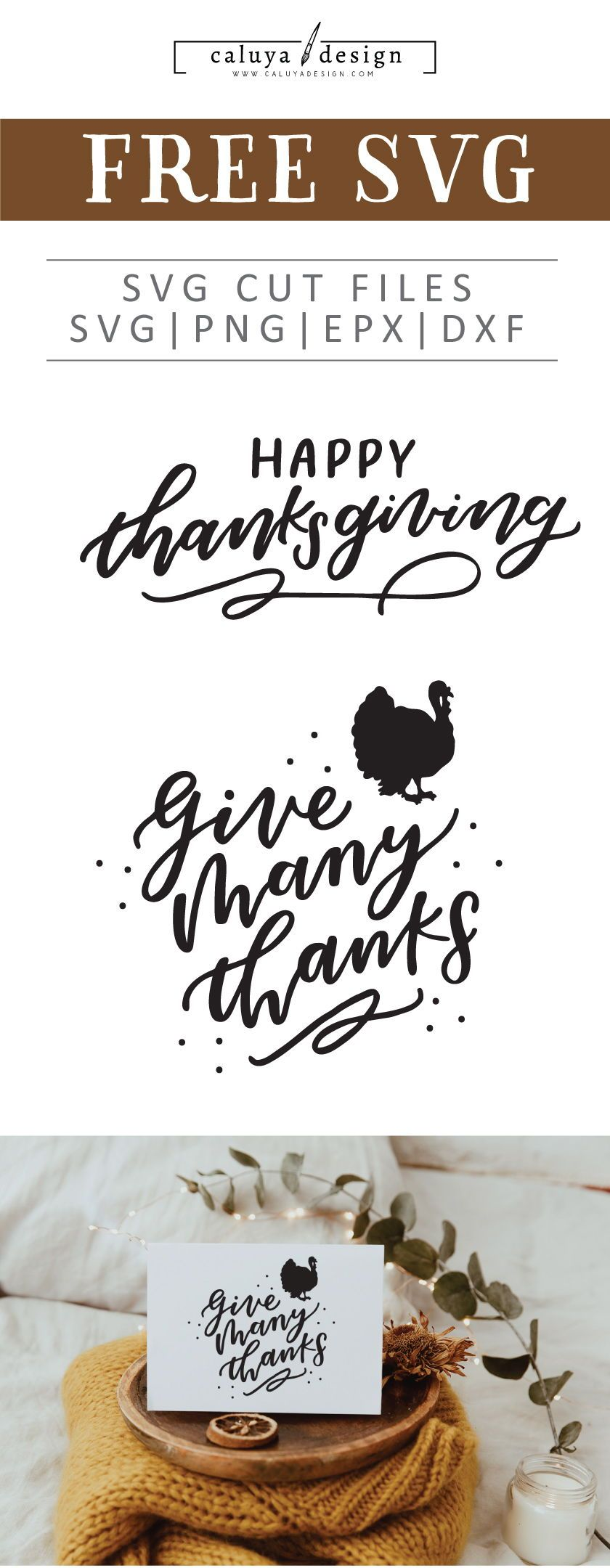Do It Yourself Home Design: Free Thanksgiving Lettering SVG, PNG, EPS & DXF By