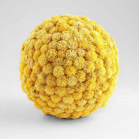 Sia Botanical Large Ball in Yellow by Cyan Design