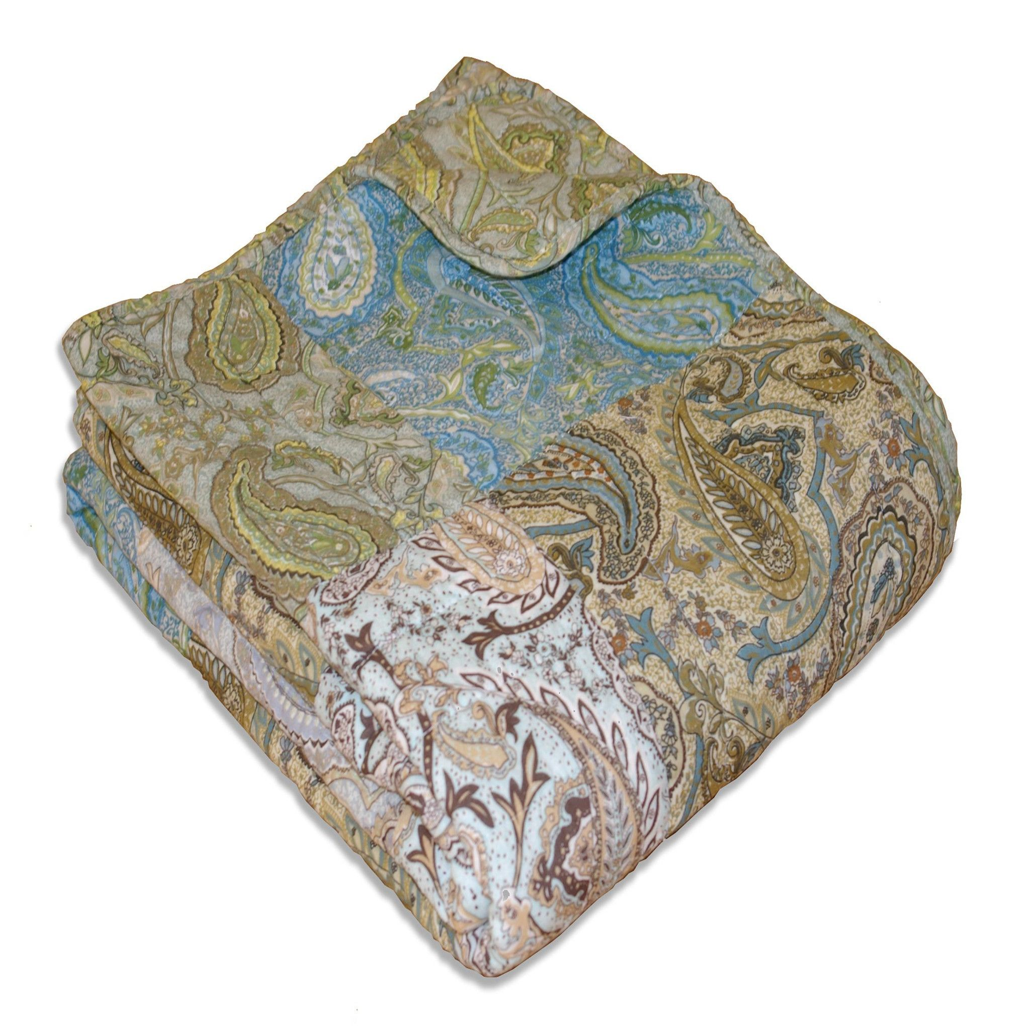 Greenland Home Vintage Paisley Accessory Throw Blanket