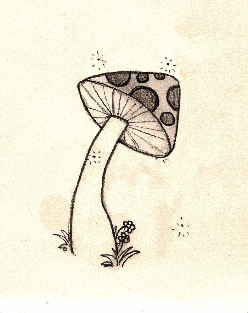 mushroom doodle by ~Znnai on deviantART | Mushroom drawing ...