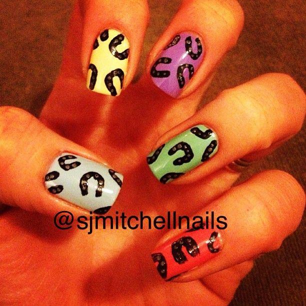 Sjmitchellnails Nail Nails Nailart Horseshoe Nail Art Animal Nails Horse Shoe Nails