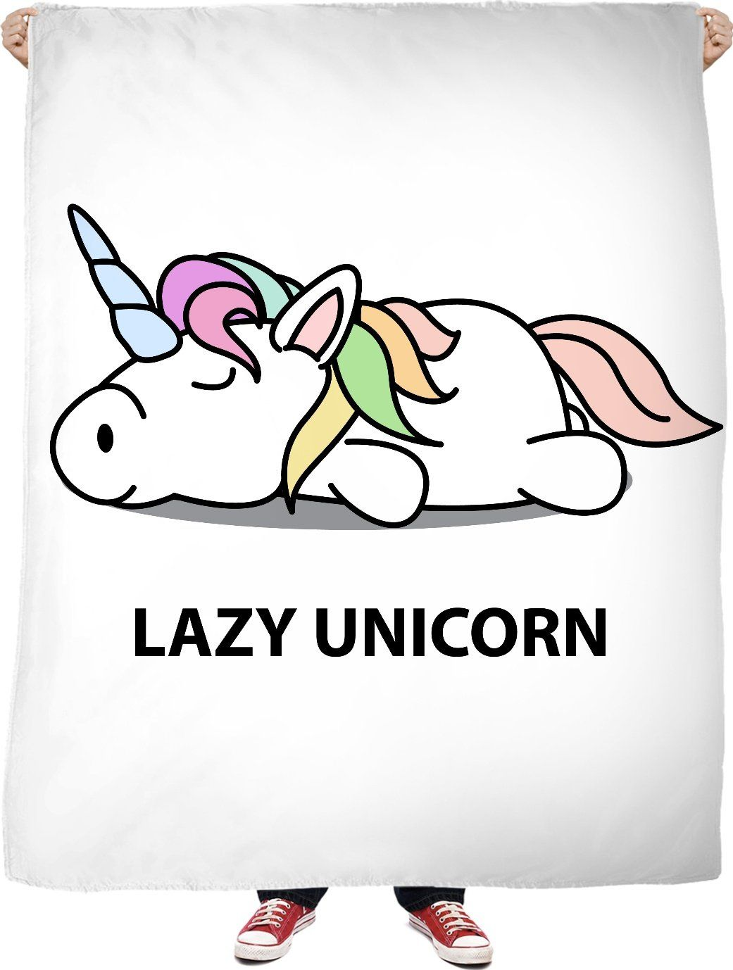 Rob lazy unicorn fleece blanket llamas and laces pinterest