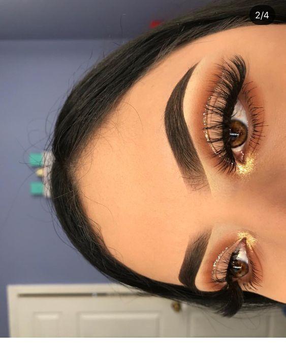 Makeup Glitter Dorado + Makeup Glitter