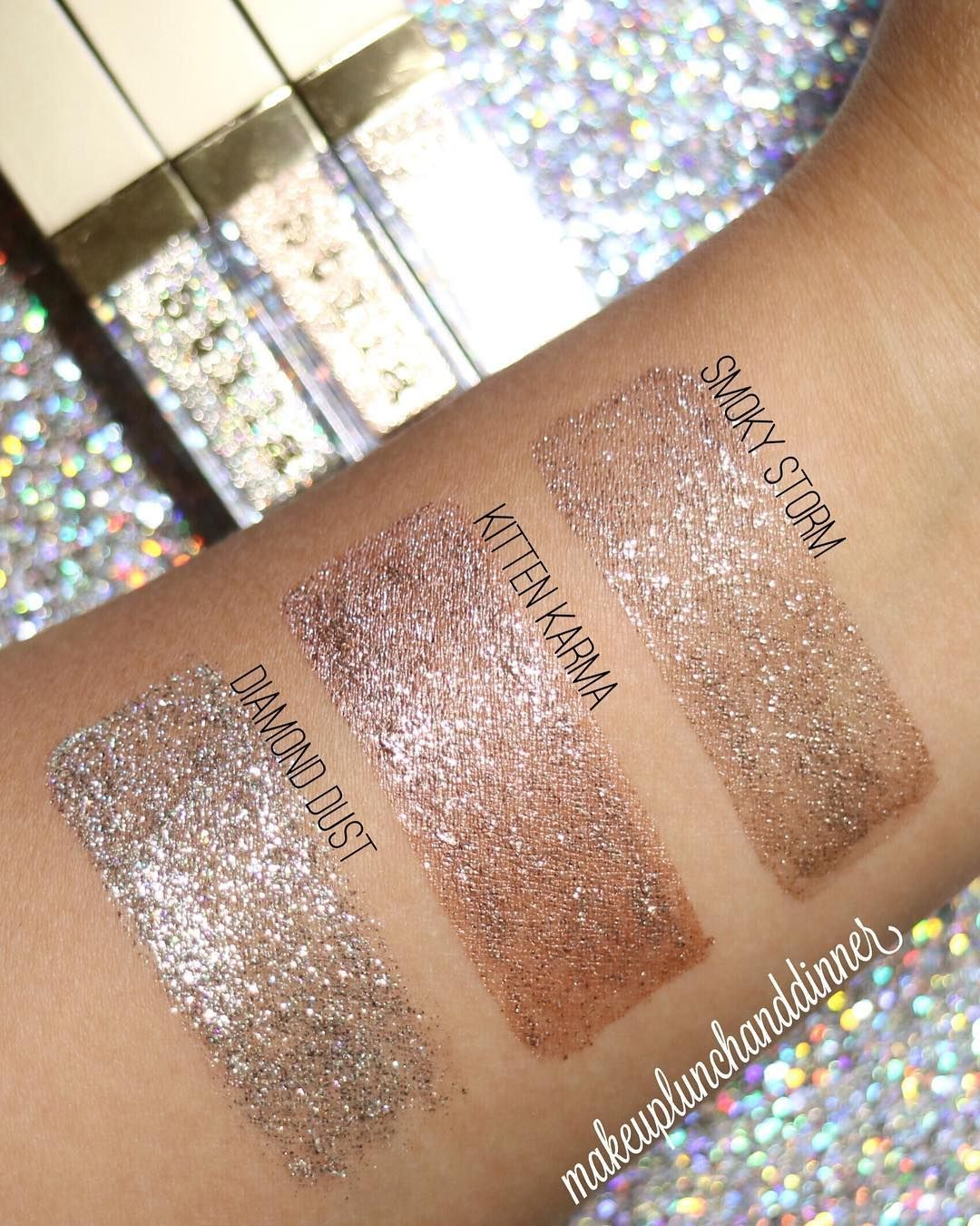 Stilacosmetics Written In The Stars Glitter Glow Mini Liquid Eyeshadow Set Via Makeuplun Simple Holiday Makeup Holiday Eye Makeup Stila Glitter Eyeshadow