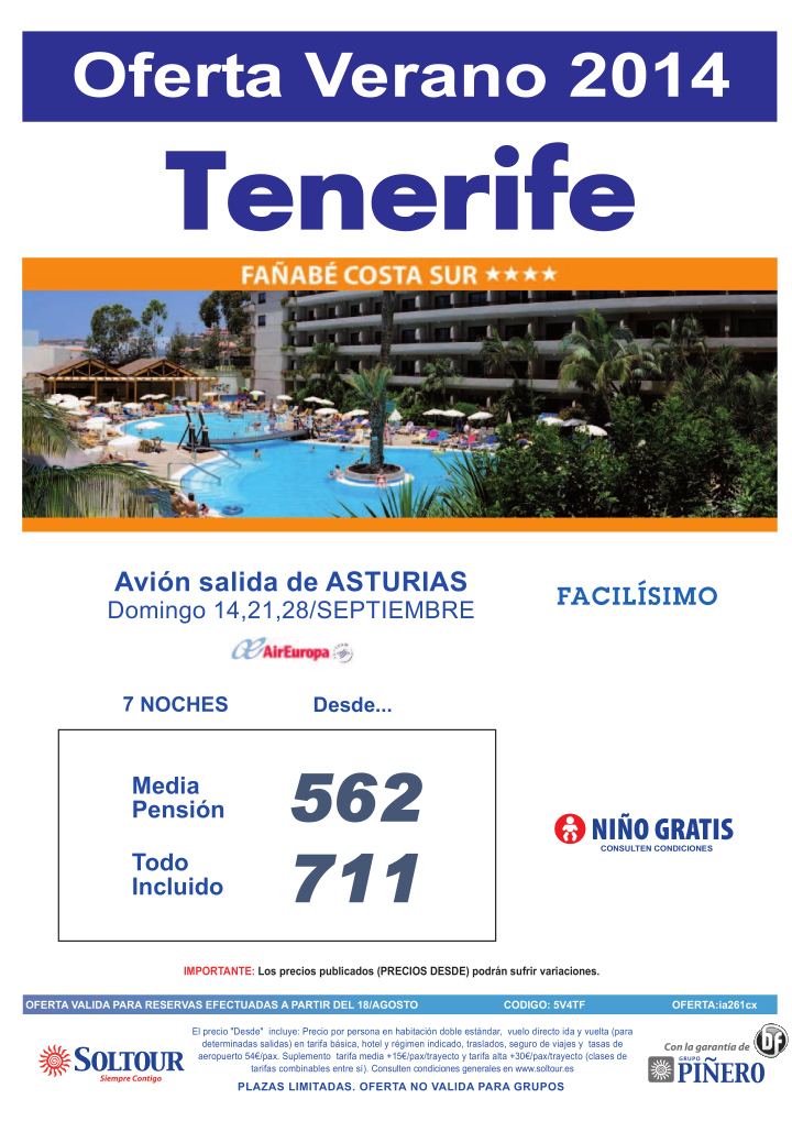 Oferta hotel Fañabe Costa Sur salidas desde Asturias ultimo minuto - http://zocotours.com/oferta-hotel-fanabe-costa-sur-salidas-desde-asturias-ultimo-minuto/
