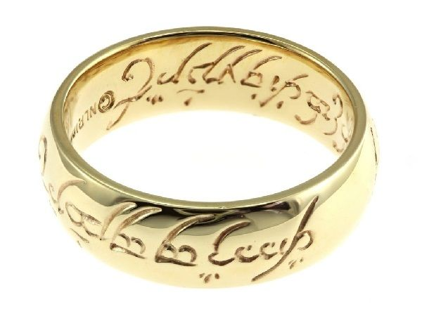 Lord of the rings themed wedding ring