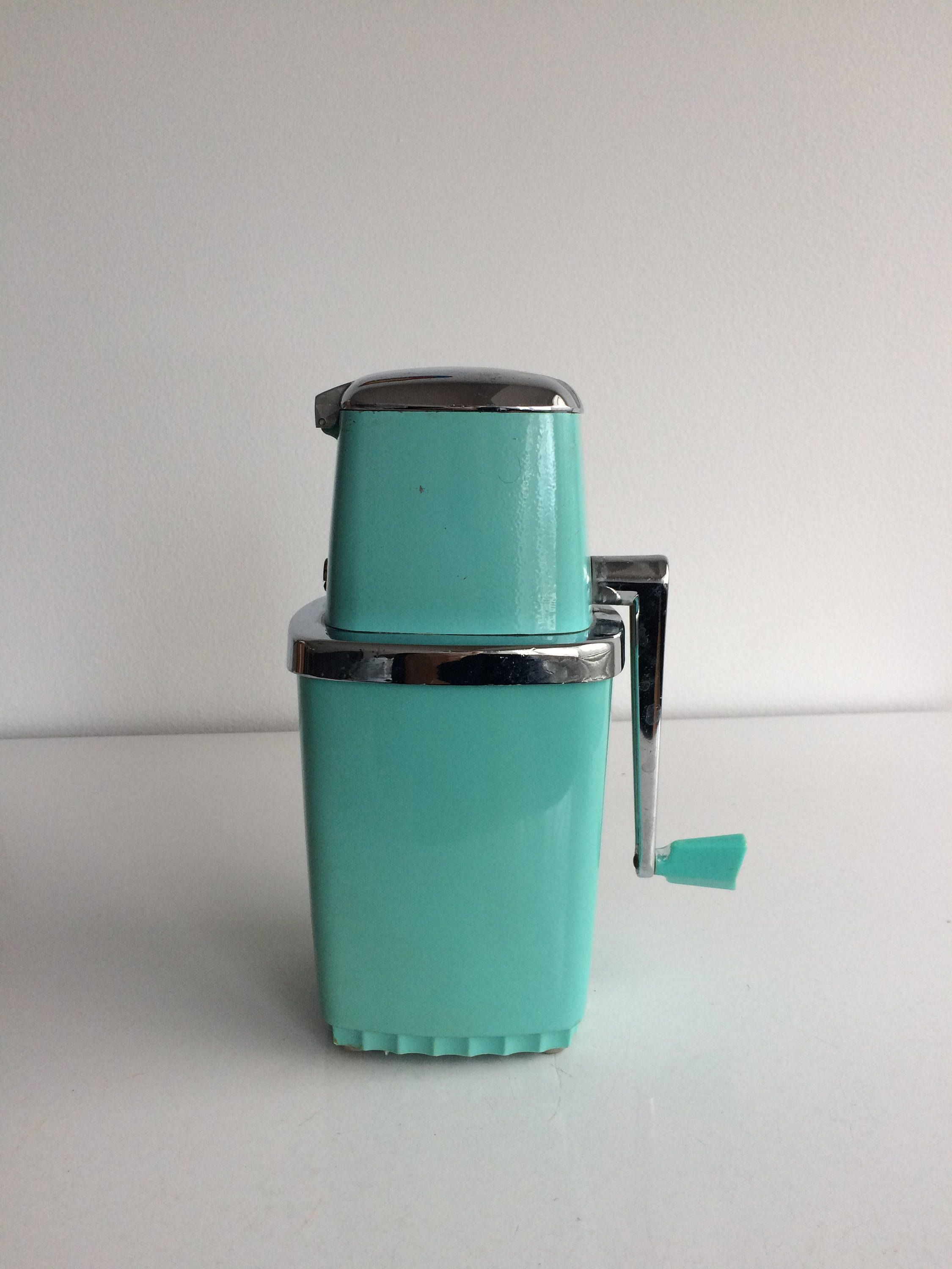 Teal Kitchen Appliances How To Organize My Vintage Ice Crusher Maid Of Honor Chopper Turquoise Blue Appliance By Thesuburbanpicker On Etsy
