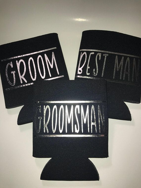 Groomsman Can Cooler Best Man Can Cooler Groomsman Gift Best Man