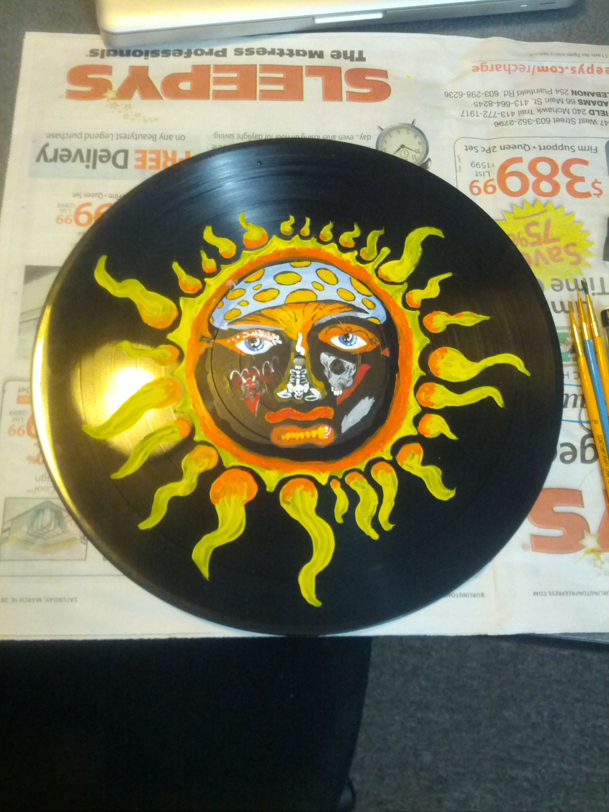 Unfinished Sublime Record Painting By Sarah Kozak Vinyl Record Art Vinyl Art Paint Record Art