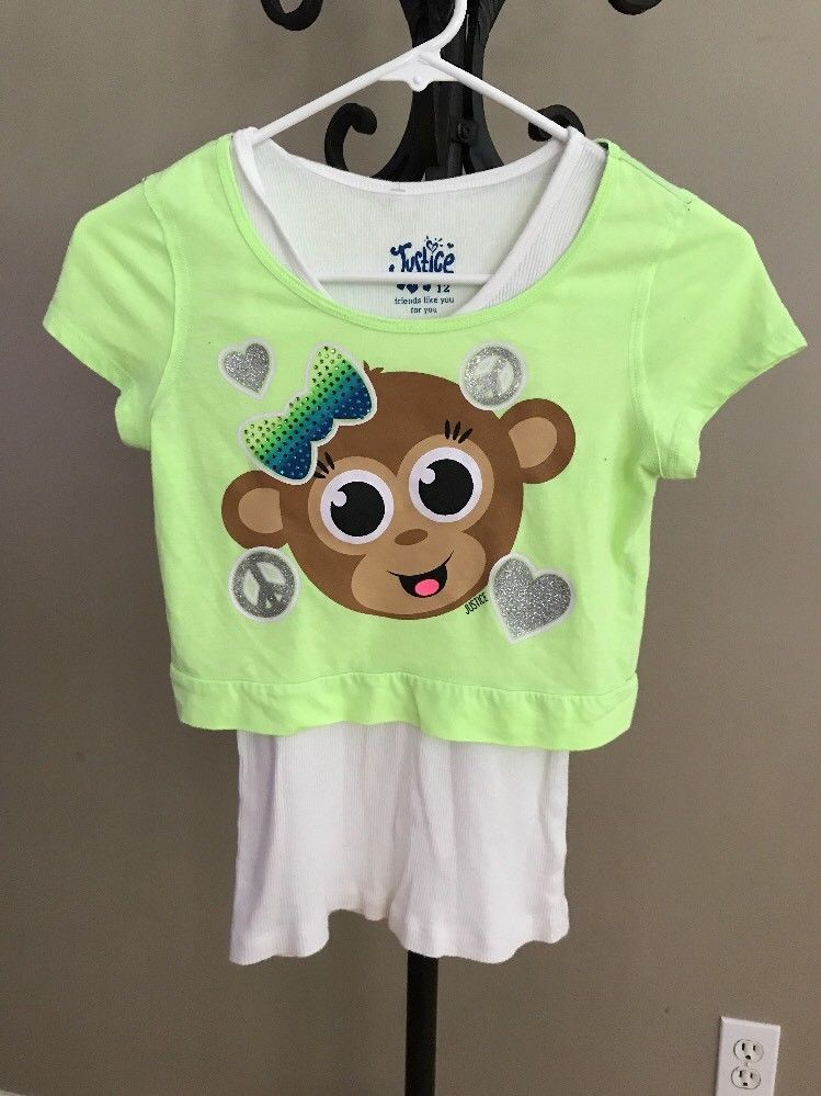 NWT JUSTICE Girls Size 10 Long Sleeve Graphic Glitter Tee /& Leggings Outfit