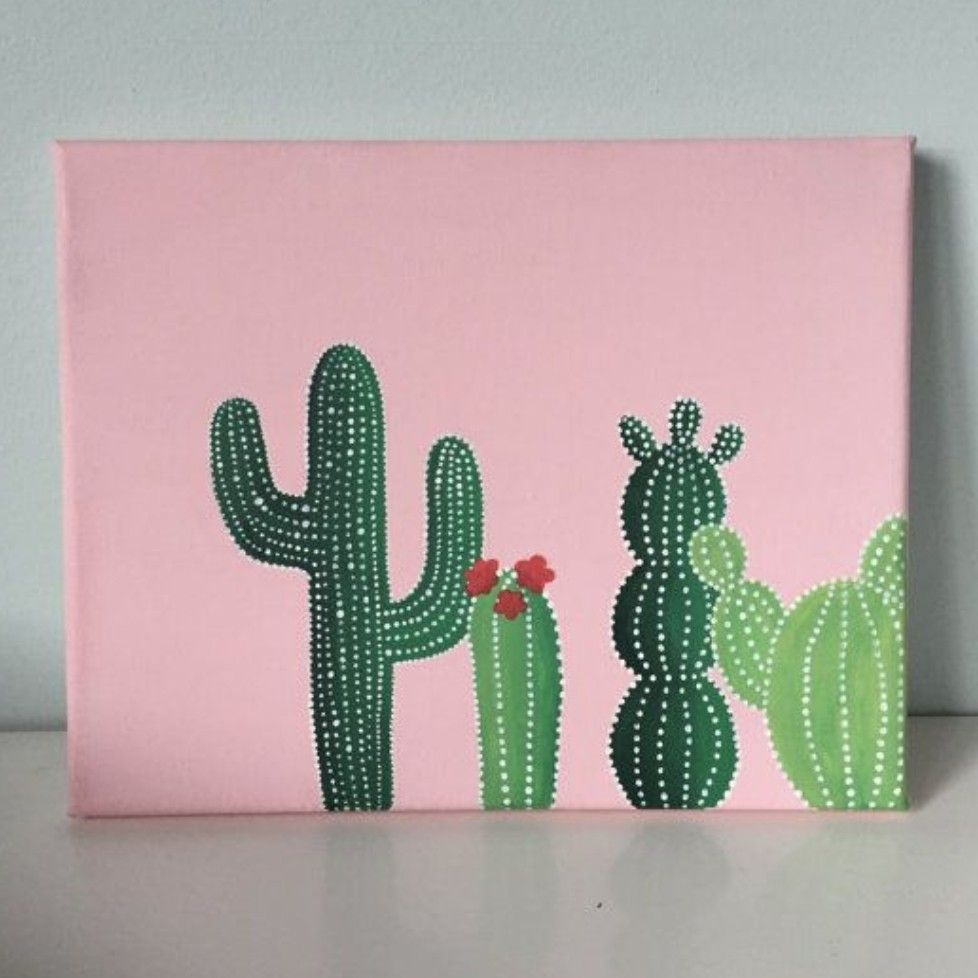 Here Is A Canvas Art For The Empty Walls In My Room Its Really Easy To Paint And Super Cute Cute Canvas Paintings Diy Canvas Art Simple Canvas Paintings