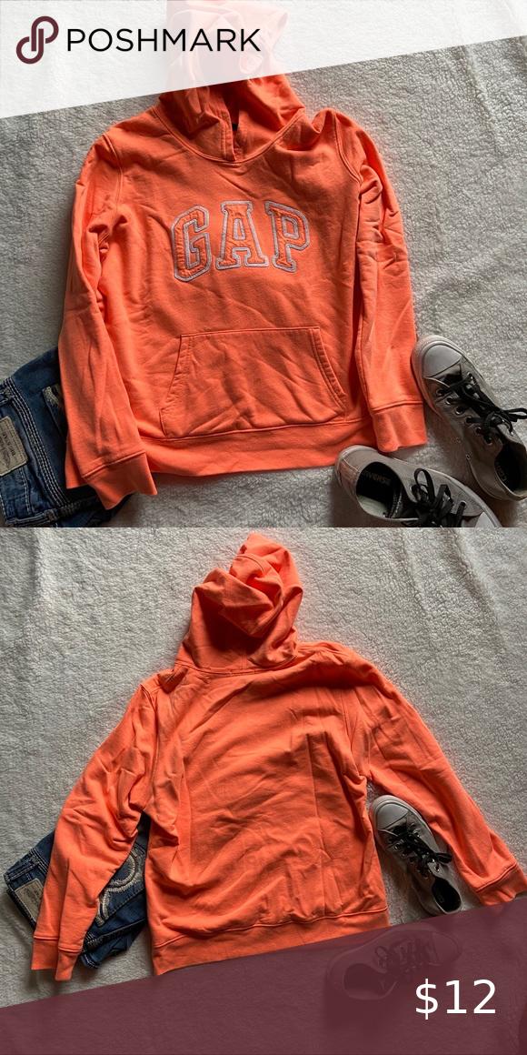 Gap Logo Fleece Lined Pull Over Hoodie In 2020 Sweatshirt Tops Hoodies Hoodie Cozy