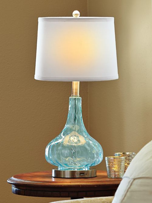 This Table Lamp Has Emergency Back Up Lights That Come On In A Outage