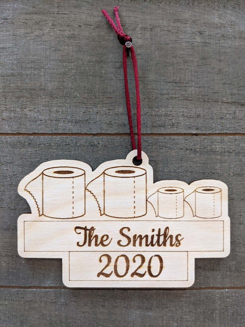 Personalied toilet paper family ornament toilet paper 2020