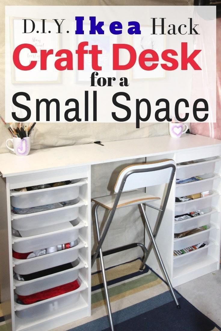 Amazing Ikea Craft Table Hack Made Out Of 2 Storage Shelves Craft Table Ikea Craft Tables With Storage Ikea Crafts