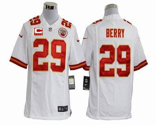 Nice Nike Chiefs #29 Eric Berry White With C Patch Men's Stitched NFL  free shipping