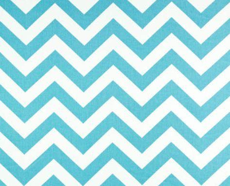 Chevron Curtain Panels Pool Aqua Blue and White Zig Zag Drapery ...