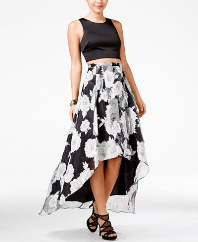 Black and White High Low Dresses for Juniors