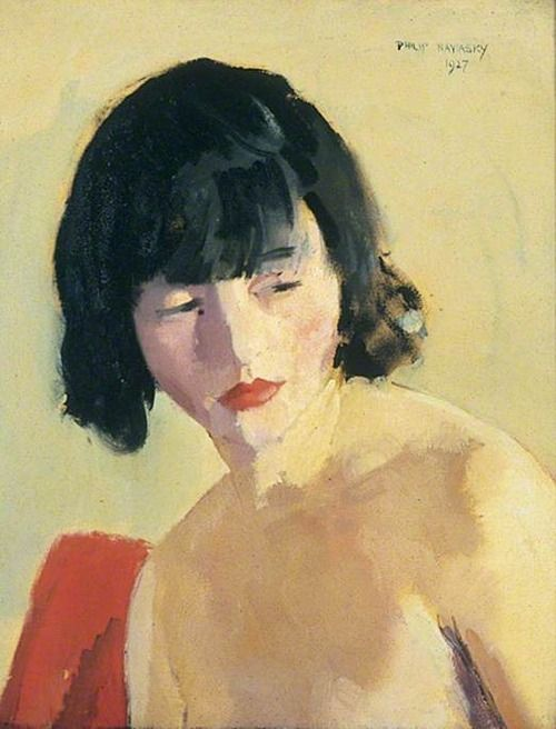 "lawrenceleemagnuson: ""Philip Naviasky (UK 1894-1983) Head of a Girl (1927) oil on canvas 51 x 41 cm Leeds Art Gallery. UK """