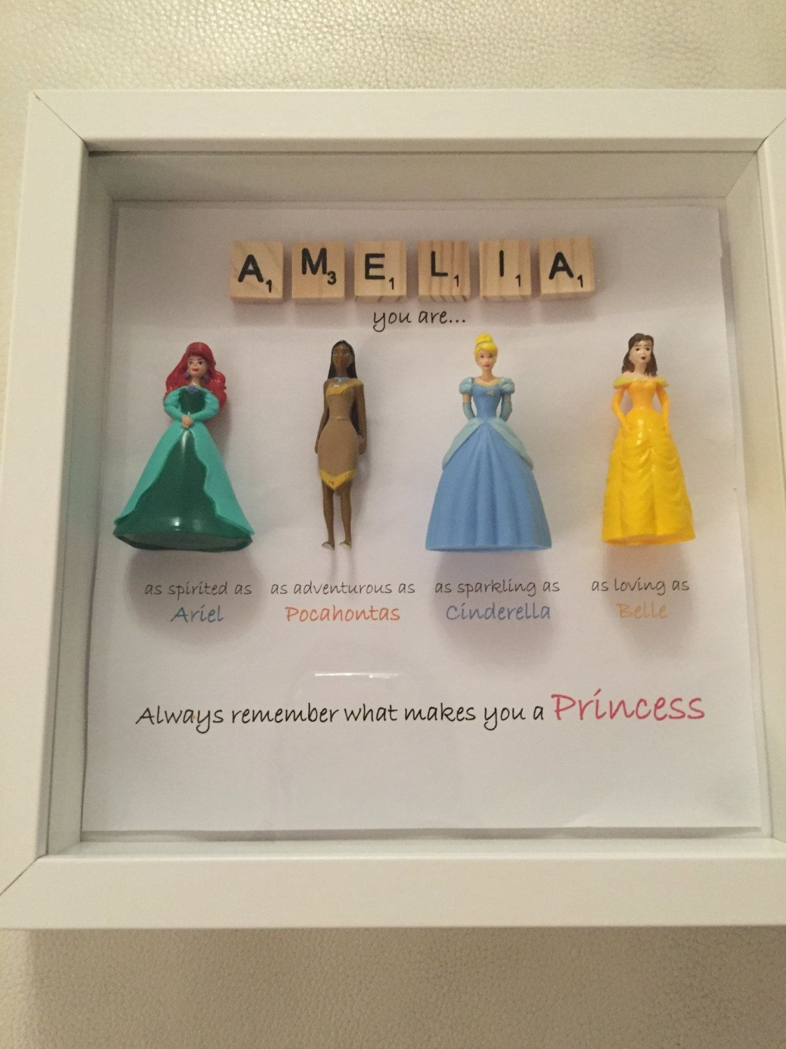 Princess Frame by xPersonalisedPlatesx on Etsy