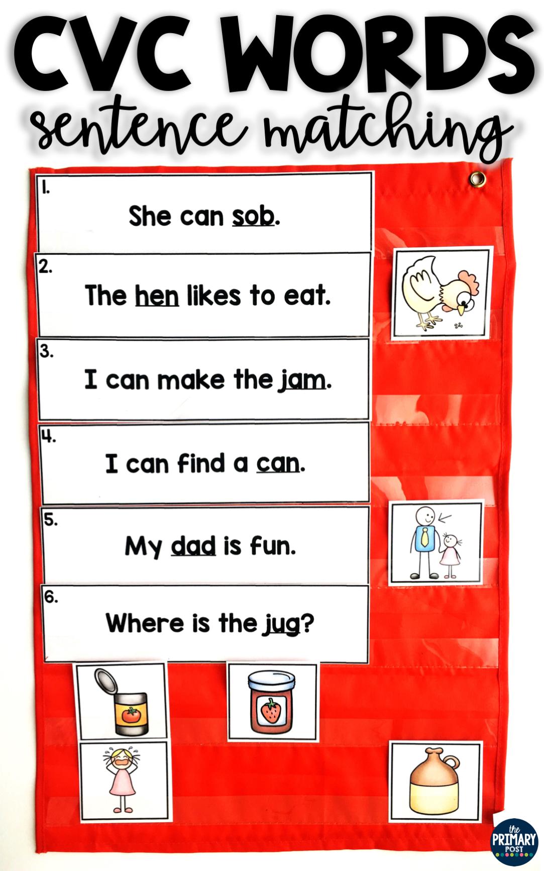 Cvc Words Sentence Matching Centers