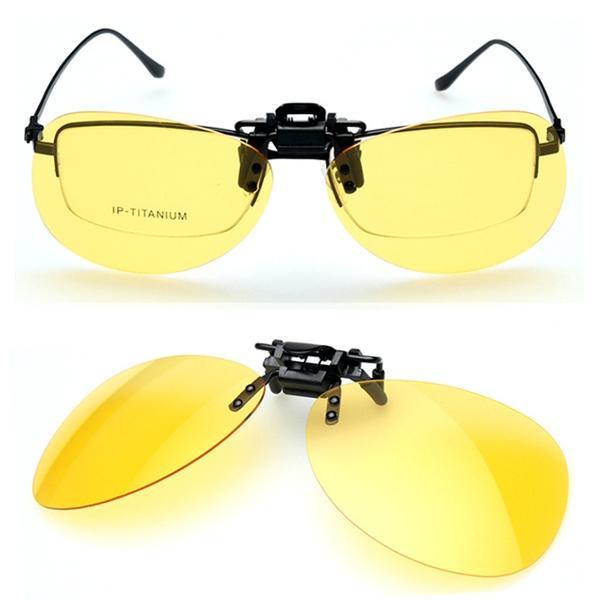 328518dda910 Polarized Large Frame Sunglasses Clip Coating Sun Glasses Driving Night  Vision Goggles Specification  Eyewear Type