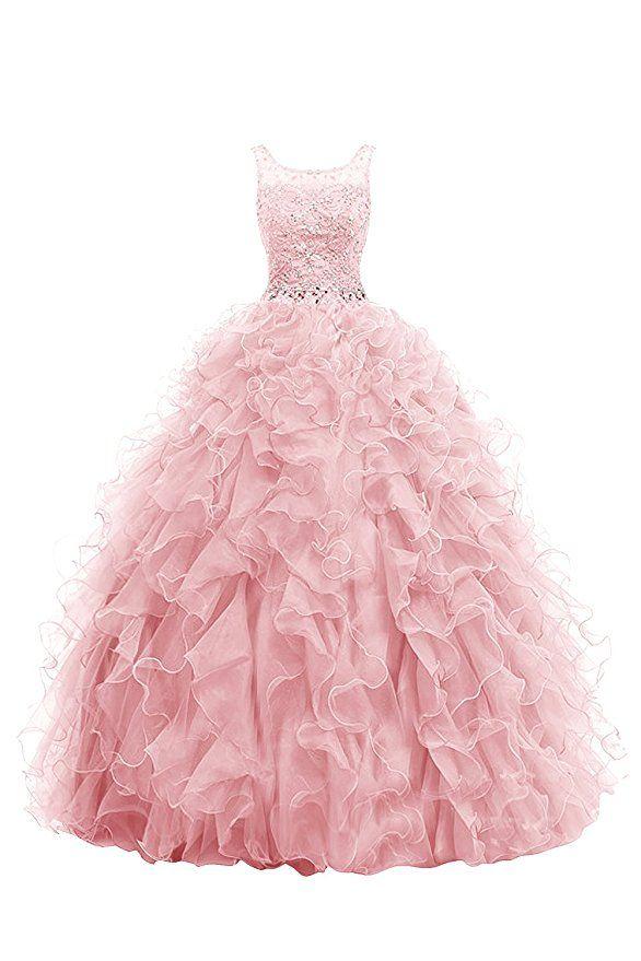 Amazon.com: Dresstells Long Prom Dress Ball Gown Beaded Wedding ...
