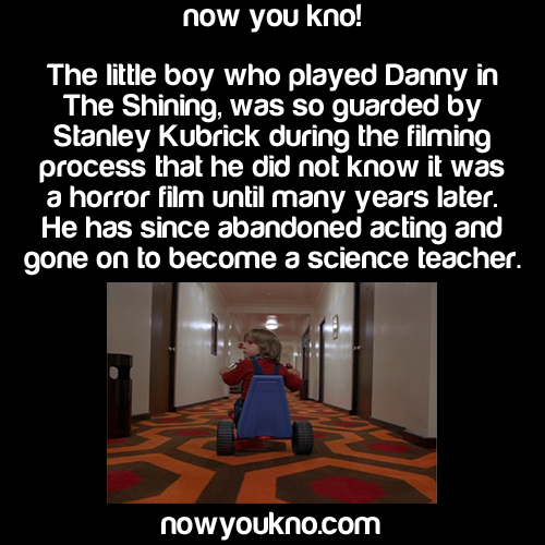 The Little Boy Who Played Danny In The Shining, Was So