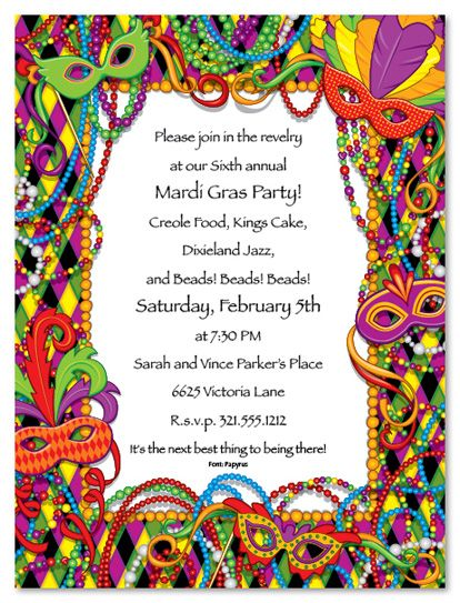 Mardi Gras Clip Art Mardi Gras Invitations St Patrick's