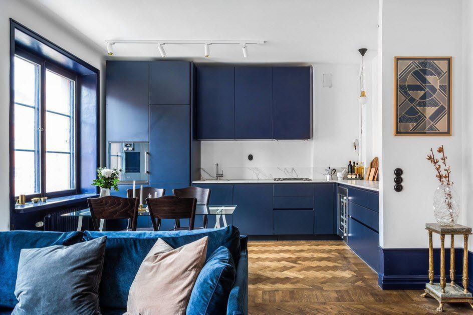 Blaue Kuche Die Beste Fotosammlung Von Designideen Edlen Farben