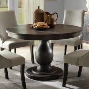 Distressed Black Round Kitchen Table Http Nilgostar Info & Distressed Black Round Dining Table   Tyres2c