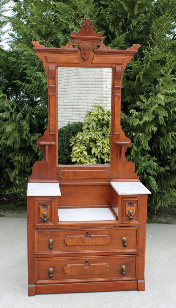 Fine Eastlake Victorian Walnut Burl Marble Top Drop Center Dresser C1880 Victorian Home Decor Eastlake Furniture Victorian Furniture,How To Get Rid Of Sugar Ants In House