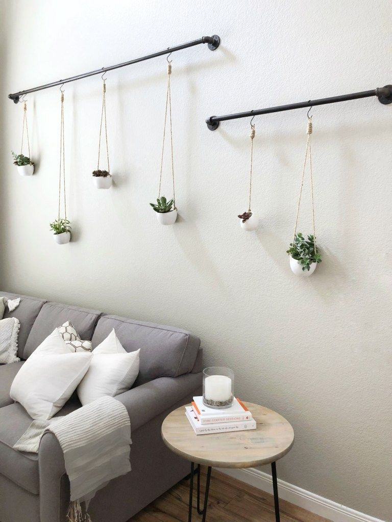 Hanging Succulents Step By Step Tutorial Diy Domestic Blonde Creative Wall Decor Cheap Wall Decor Wall Decor Bedroom