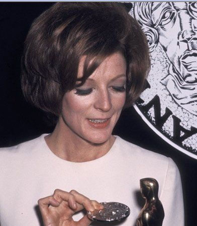 Maggie Smith with her Best Actress Oscar for