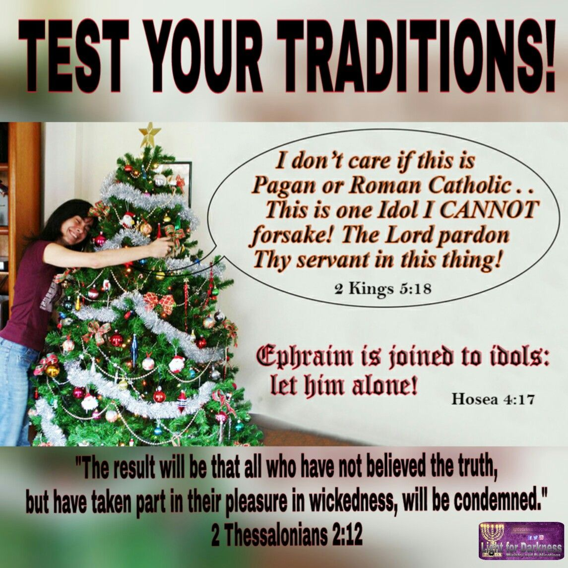 History Of The Christmas Tree Pagan: Xmas Is A PAGAN Satanic Tradition IT Is NOT In The Bible