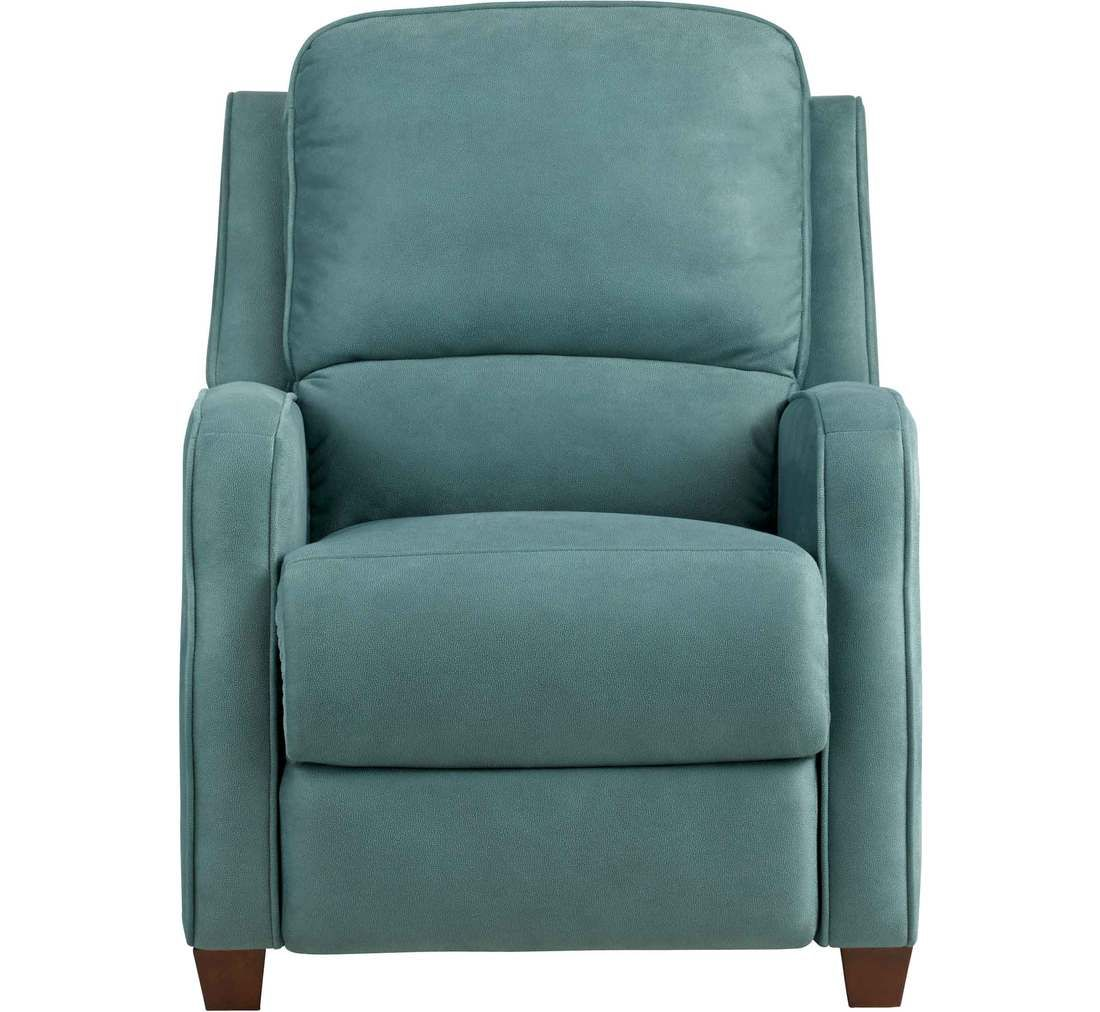 For Den While The Mr. Recovers | Turquoise Recliner At Badcock
