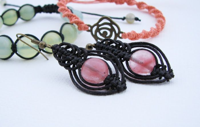 Macrame earrings: simple and beautiful Kurs makramy - pracowity początek roku :)