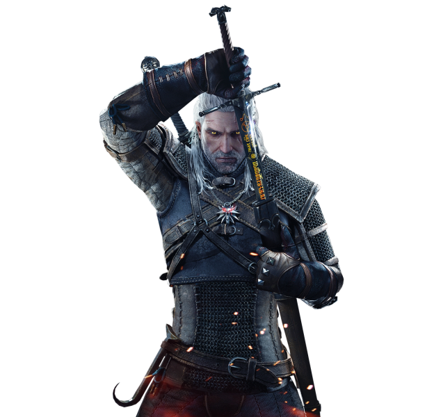 The Witcher Geralt Png Image Witcher Art Sword Drawing The Witcher