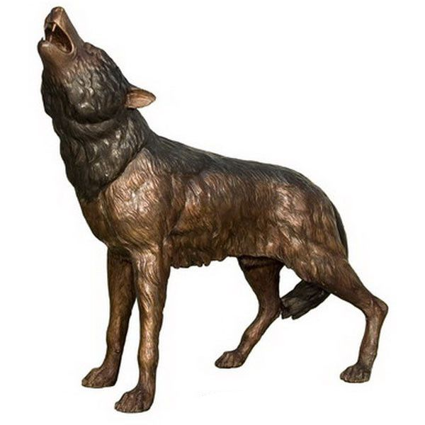 Bronze Wolf Liked On Polyvore Featuring Home Decor Animal Figure
