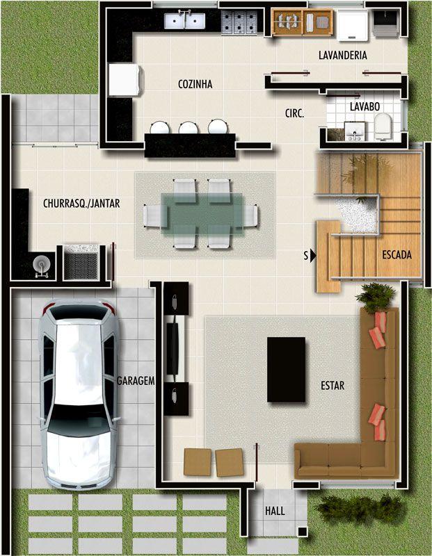 Fabuloso Projetos de casas modernas e pequenas grátis | Casas modernas  CM19