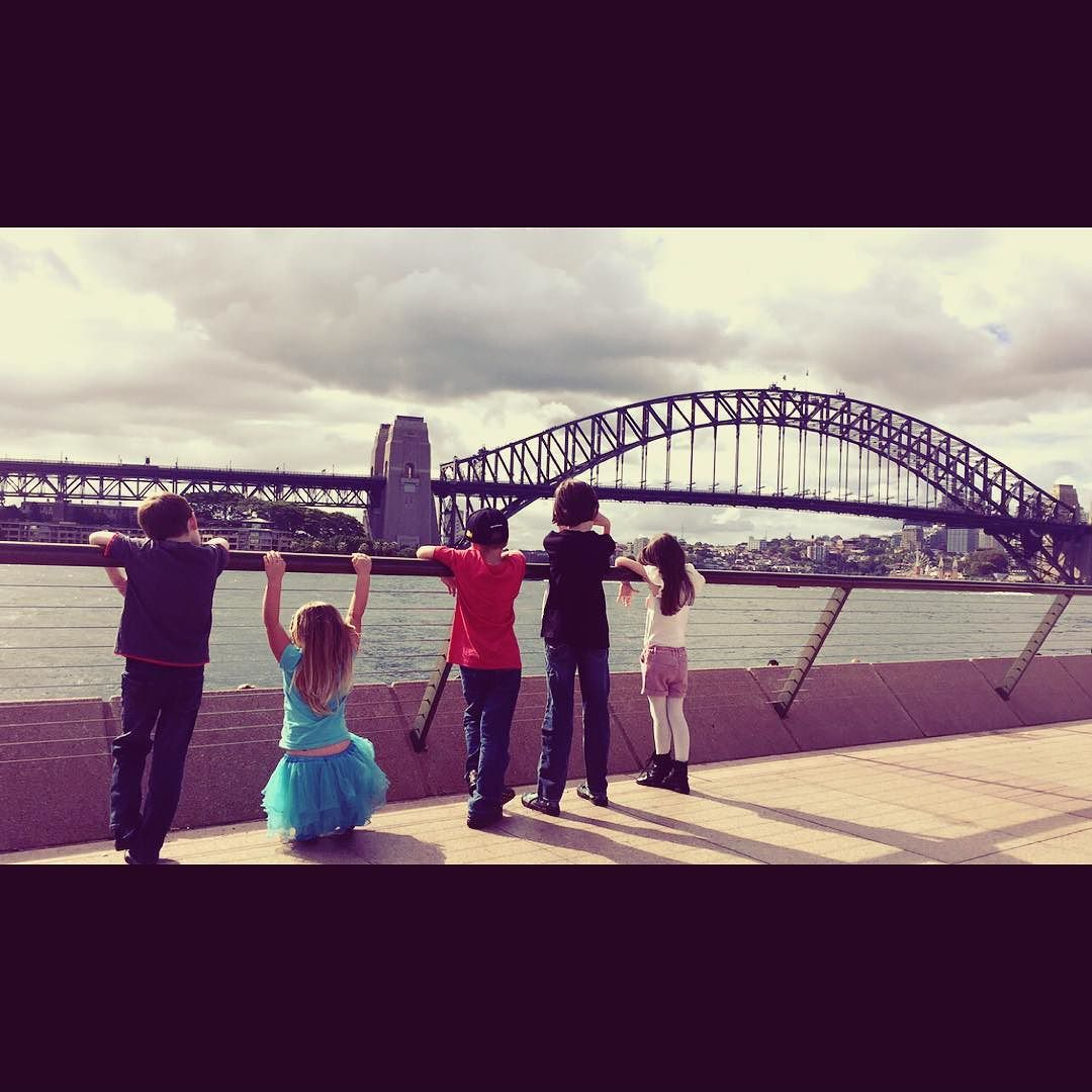 Our fearsome five!  #harbourbridge #exploring #fearsomefive #fun #Sydney #sydneyharbourbridge #dayout #proudmummas #happy #goodtimes @wayoflife28 by icecoz http://ift.tt/1NRMbNv