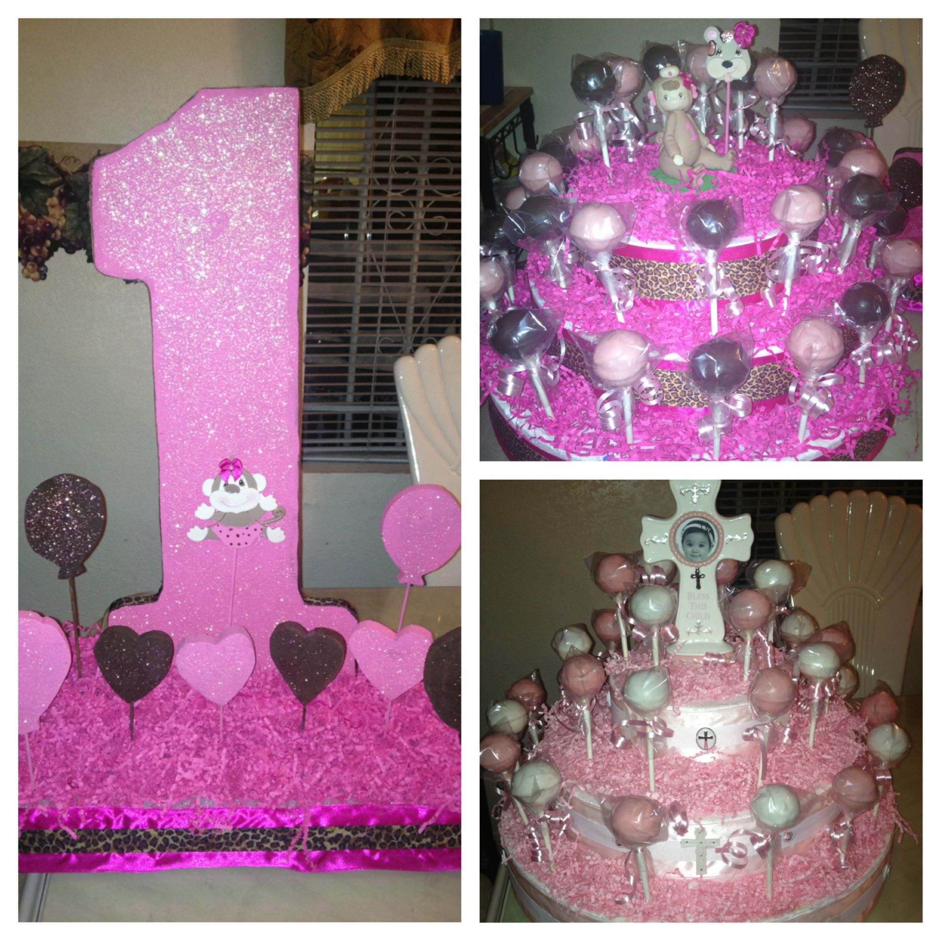 1st birthday ideas Baptism cake pop stand Birthday cake pop stand