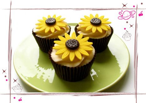wedding cakes made with sunflower cup cakes | Flower Cupcakes Archives - Page 2 of 2 - The Cupcake Universe