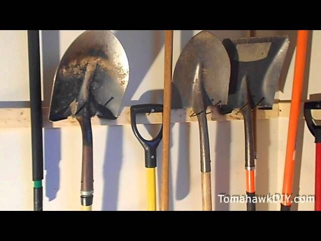 Lovely Organize Your Yard Tools With This Simple, Cheap Hanging System