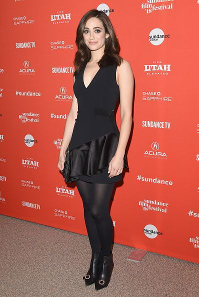 Emmy Rossum Wearing The Mat Opaque 80 Tights